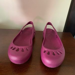 Purple Crocs Mary Jane Ballet Flats Size 7 - Kadee